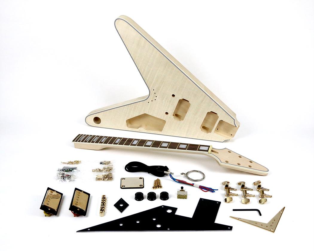 flying v style electric guitar kit. Black Bedroom Furniture Sets. Home Design Ideas