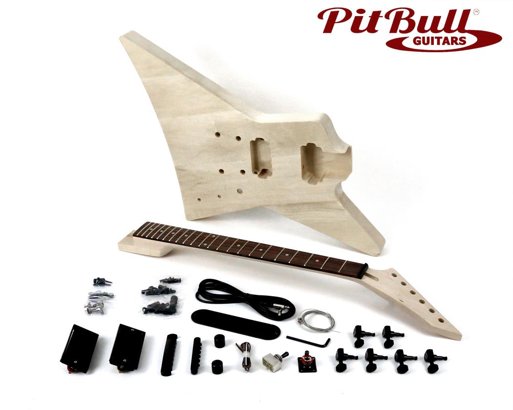 pit bull guitars esp 1 electric guitar kit pit bull guitars pit bull guitars esp 1