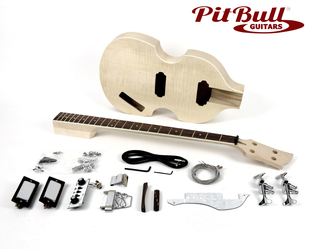 Pit Bull Guitars HB-4 Electric Bass Guitar Kit | Pit Bull Guitars