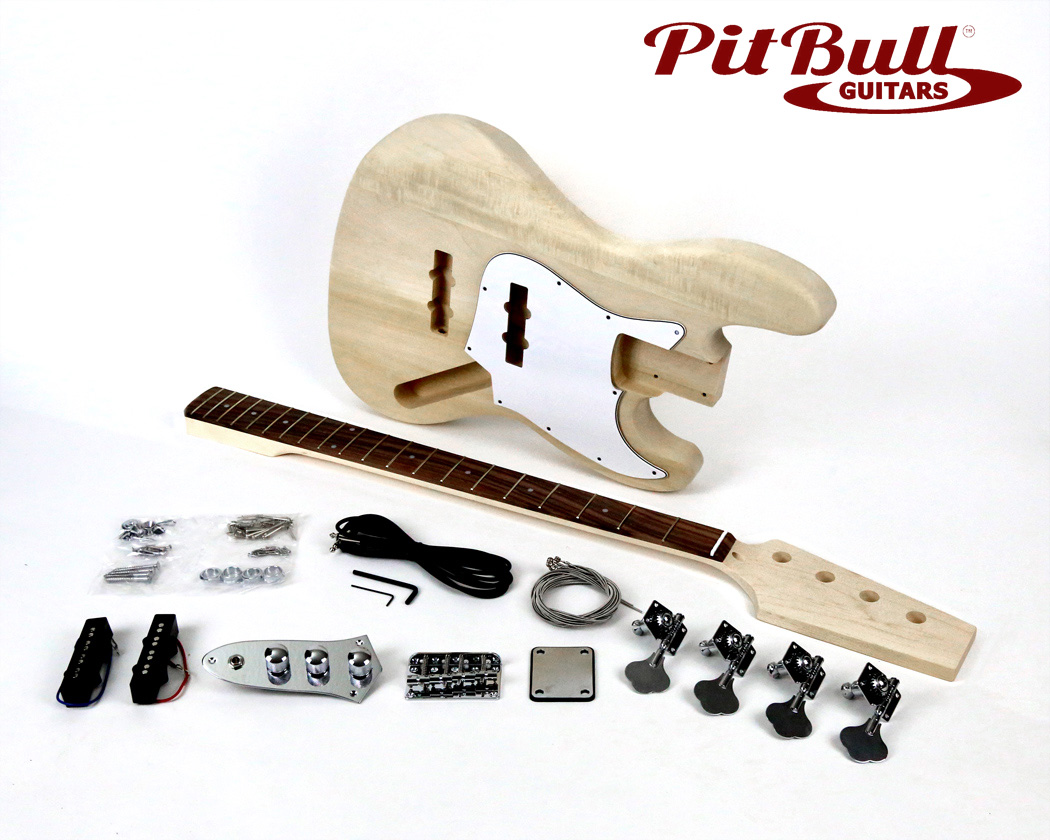 Pit Bull Guitars Jb 4 Electric Bass Guitar Kit