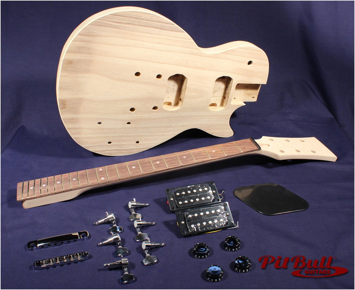 Paulownia Guitar Kit Lp-1p Electric Guitar Kit