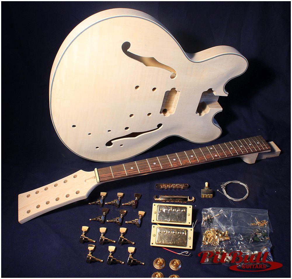 pit bull guitars es 12g complete diy 12 string hollow body. Black Bedroom Furniture Sets. Home Design Ideas