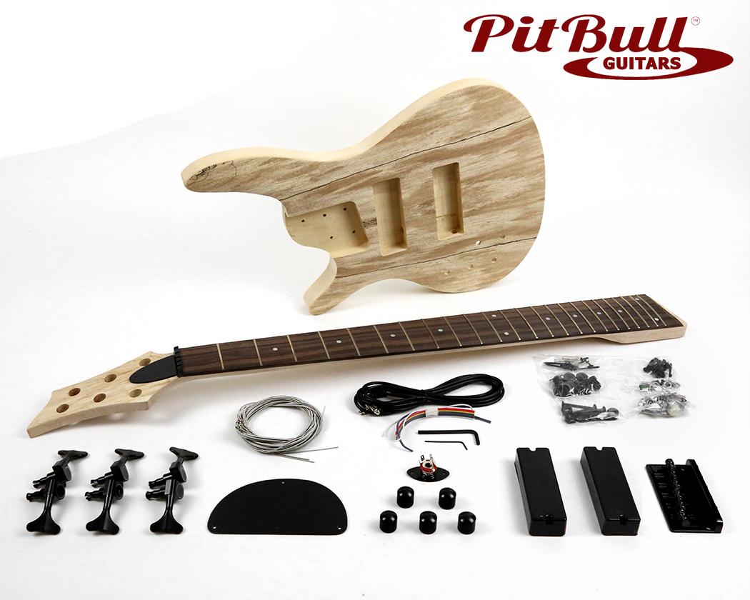 Bass guitar kits pit bull guitars pit bull guitars ib 6sl left handed electric 6 string bass guitar kit spalted maple diy solutioingenieria Choice Image