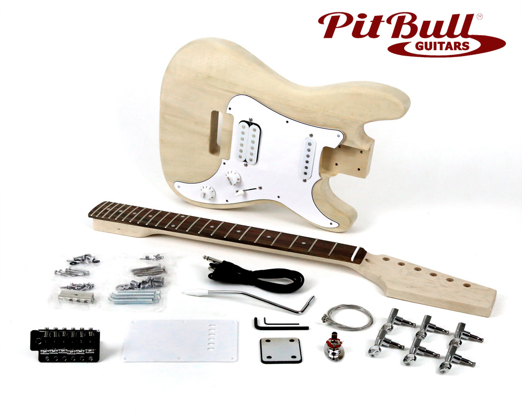 Pit Bull Guitars ST-1JR 3/4 Size Electric Guitar Kit
