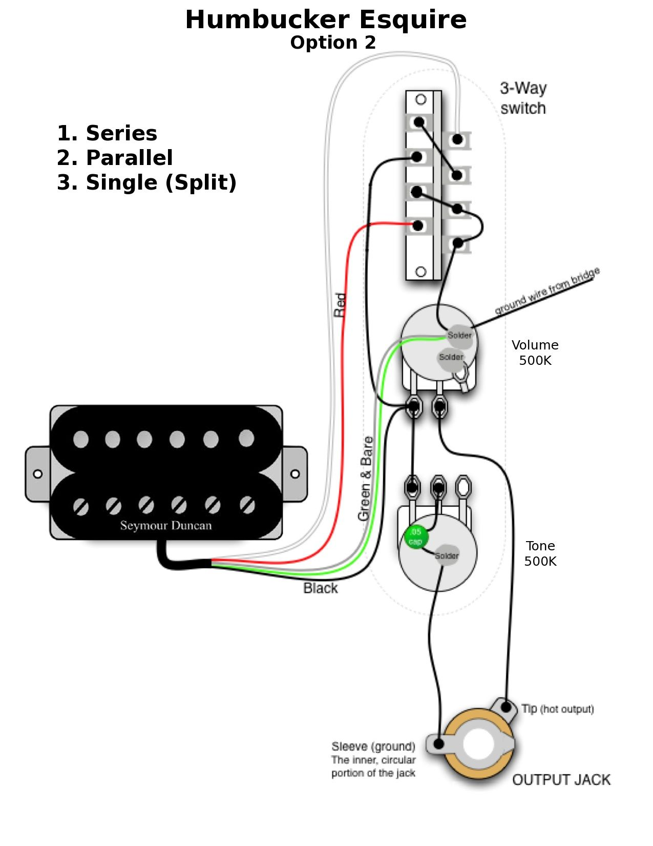 switchable tele  esquire wiring