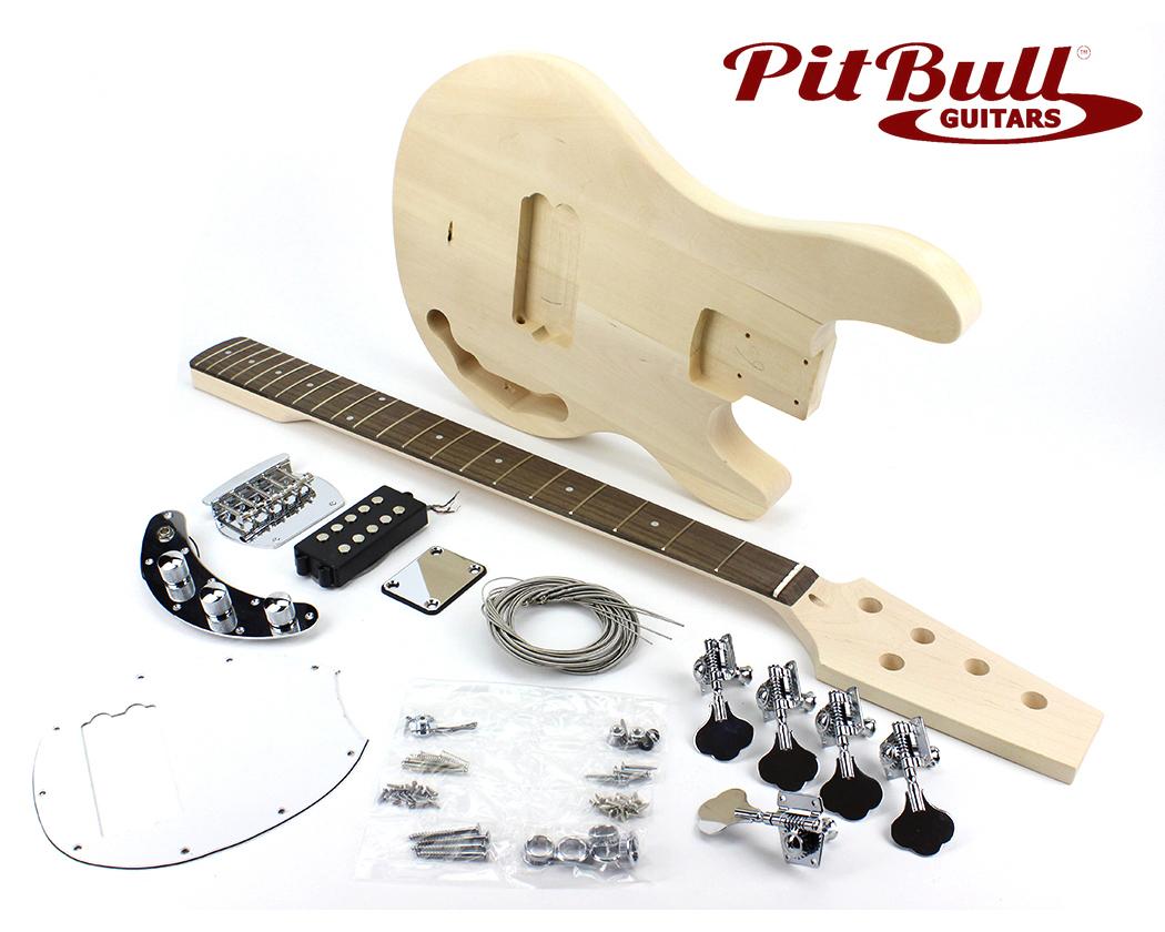 pit bull guitars mmb 5 electric bass guitar kit ebay. Black Bedroom Furniture Sets. Home Design Ideas