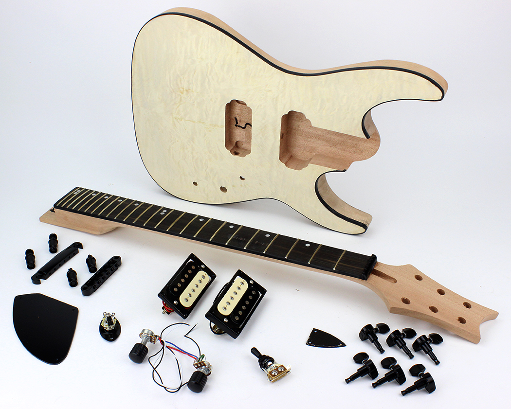 Sg Guitar Kit With Ebony Fretboard Wiring Harness 3 Way Toggle Switch 500k Volume Tone Jack For Replacement Lp 2t2v Pots Dual Humbucker Les Pual Cream Tip Strat Alder Wow What Fun Project