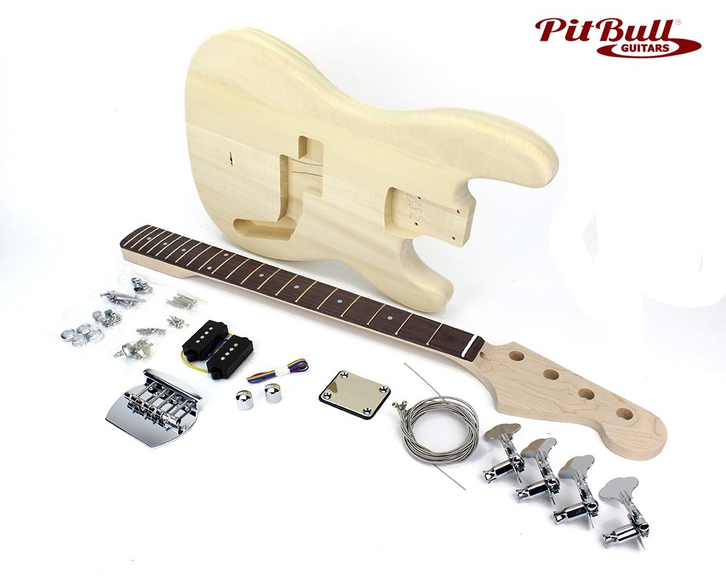 pit bull guitars pb 30 electric bass guitar kit 30 scale pit bull guitars. Black Bedroom Furniture Sets. Home Design Ideas
